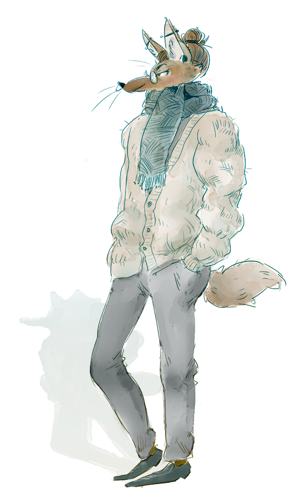 Most recent image: wooly cardigan