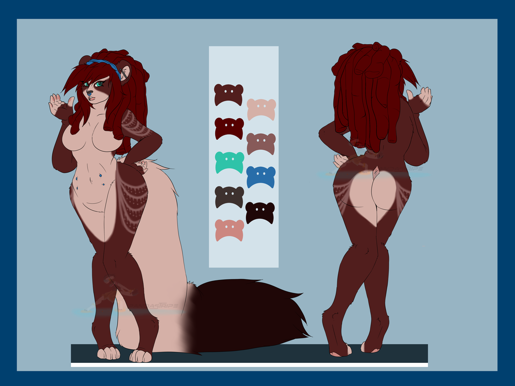 Most recent image: Reference Sheet for YoruWolf666