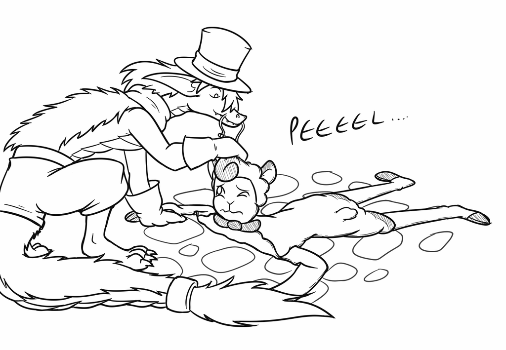 """OLD ART - """"He...Didn't Watch That Last Step..."""""""