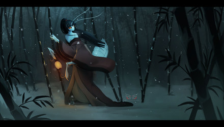 Blade Under Mask: Silent Winter Child (Image)