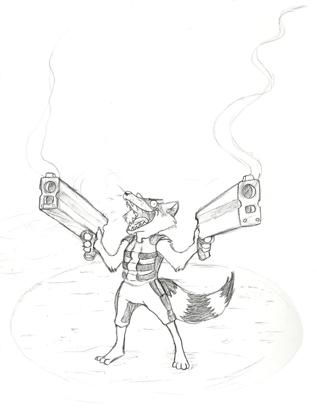 Rocket Raccoon, in his Element