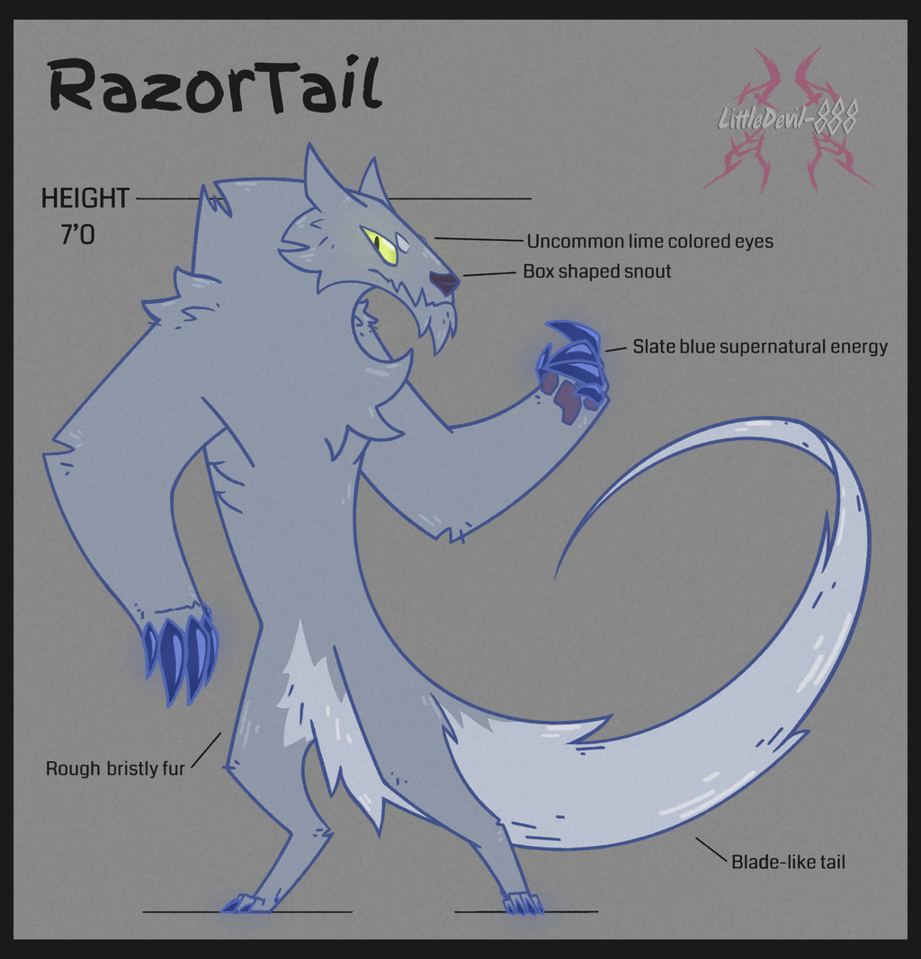 Most recent image: LIP: RazorTail Character Sheet