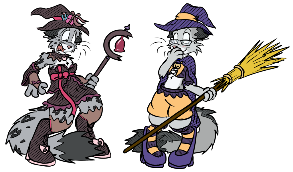 Halloween Witches by Virmir & Bluedragon62