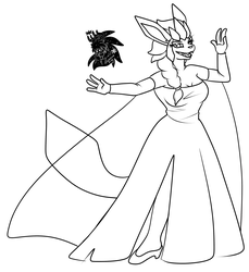 Glaceon Elsa +Commission WIP+