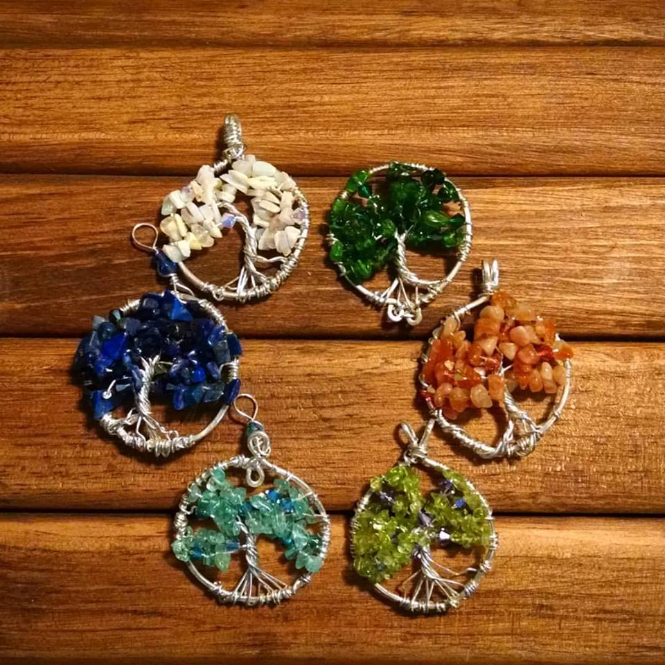 Silver Tree of Life Pendants