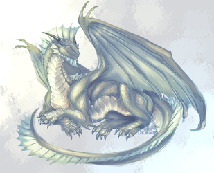 Silver Dragon of the Forgtten Realms