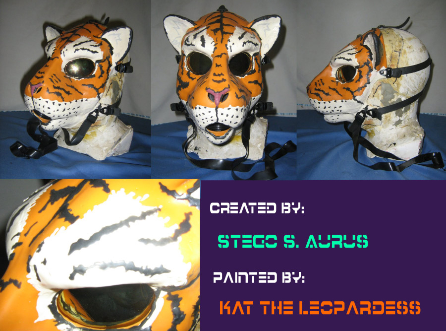 Painted Gas Mask: Tiger