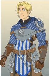 Noah in Grey Warden Armor