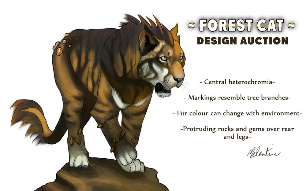 Design Auction - Forest Cat
