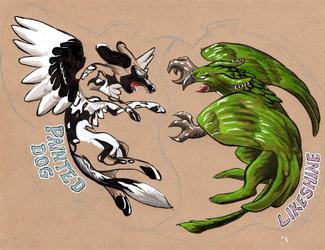 Battle Badges- PaintedLike and DogShine