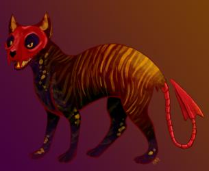 $13 Red Skull Cat Adopt (OPEN)