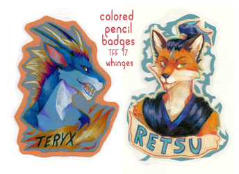 [TFF17] Colored Pencil Badges