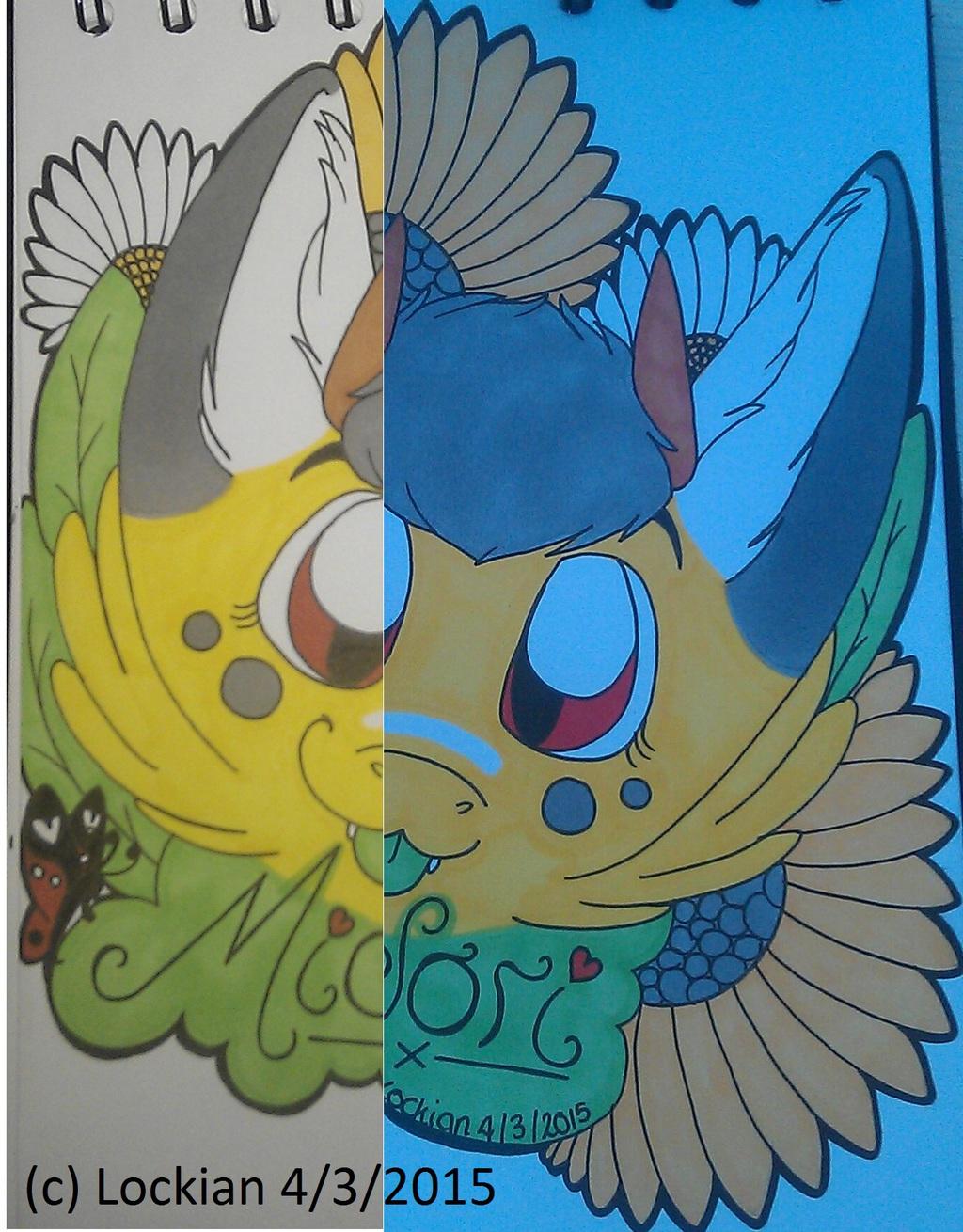 Flower Child, Headshot badge: Midori