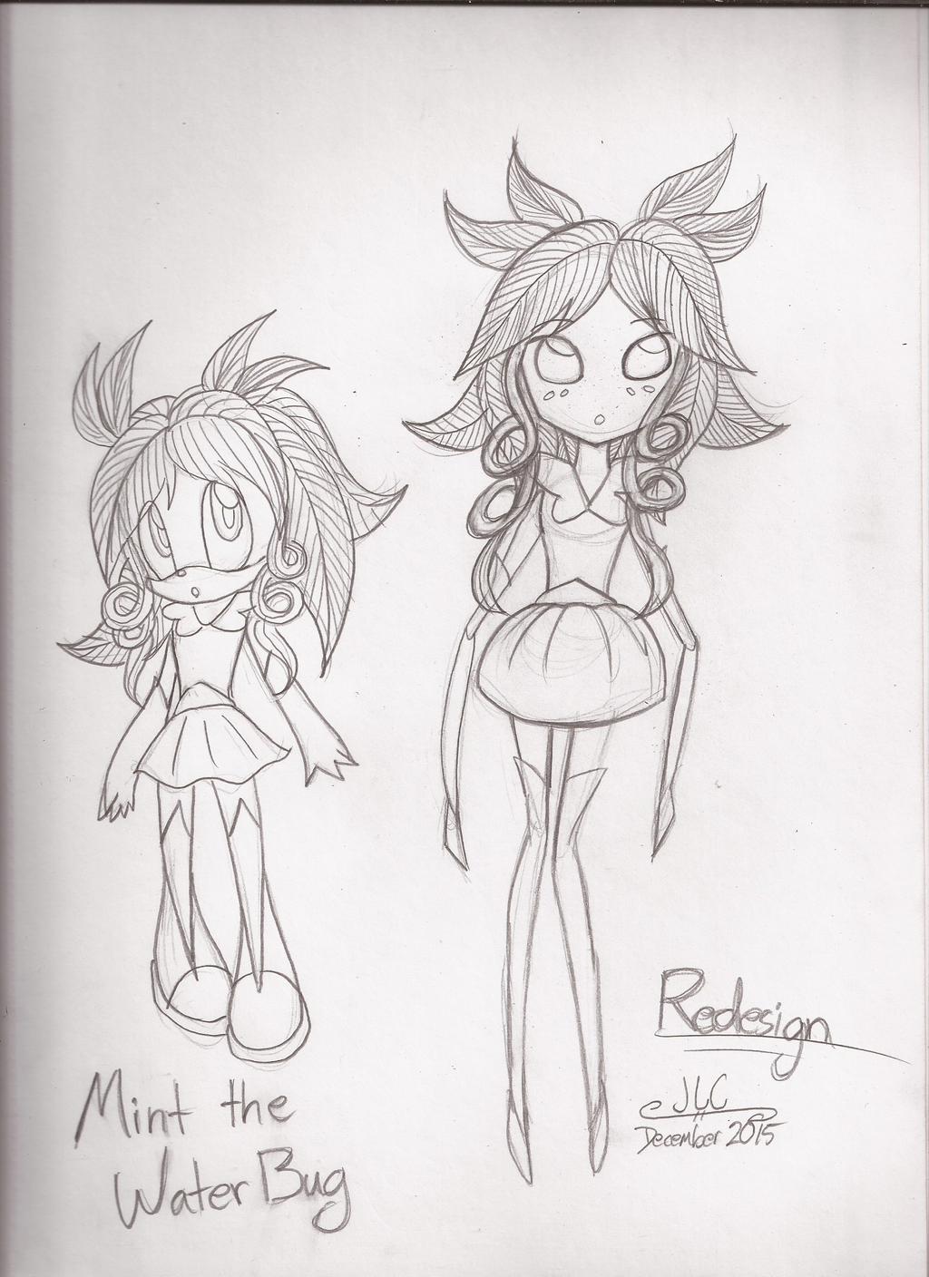 Character Drawcember Week 1 - Redesign
