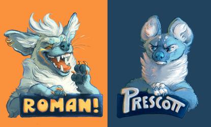 Badges: Roman & Prescott