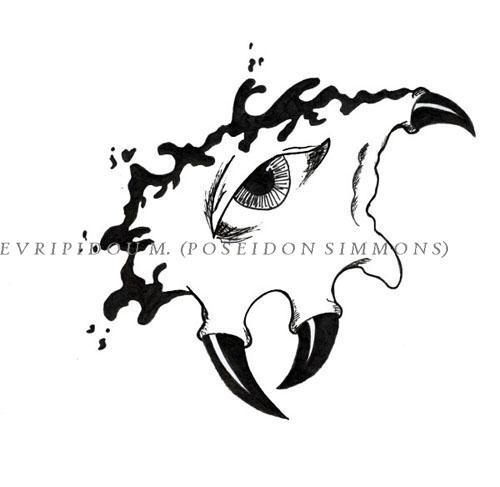 eye with horns