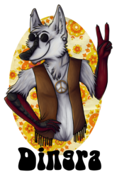 Dingra Hippie Badge [Commission]