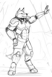 Sketchy Fox Memory or Fantasy? by RWolf