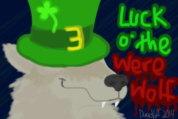 Draw A Werewolf Day - Luck of the Arrwwwooo!