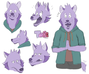 Purple dogs everywhere