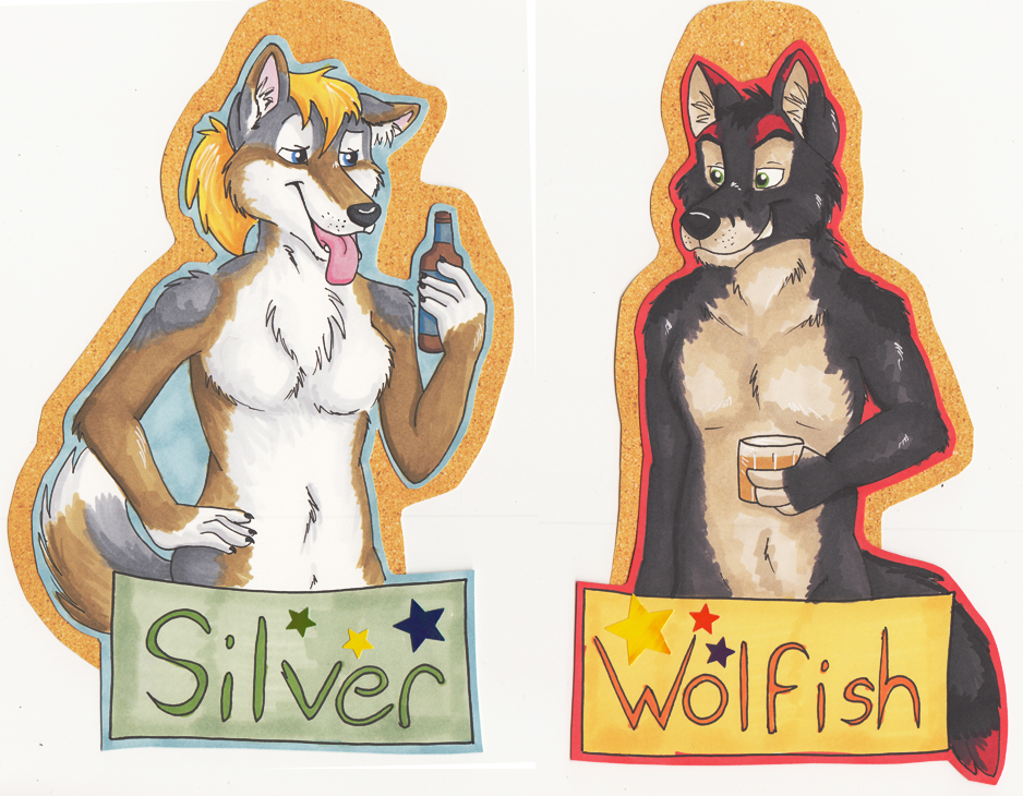 Bust Badges - Silver and Wolfish