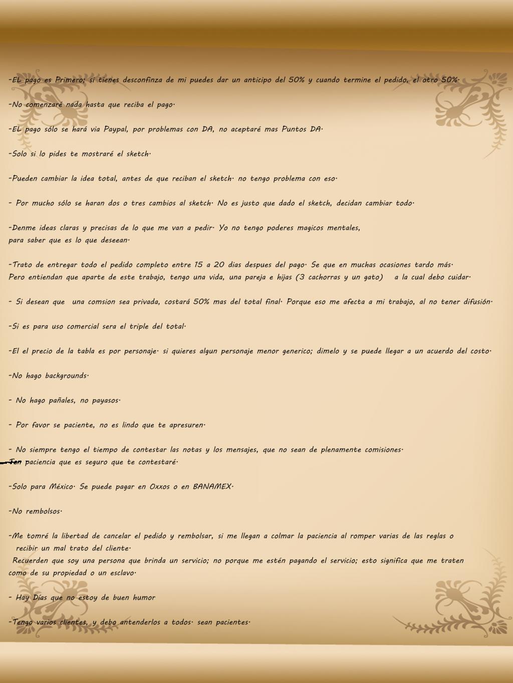 Most recent image: Las reglas