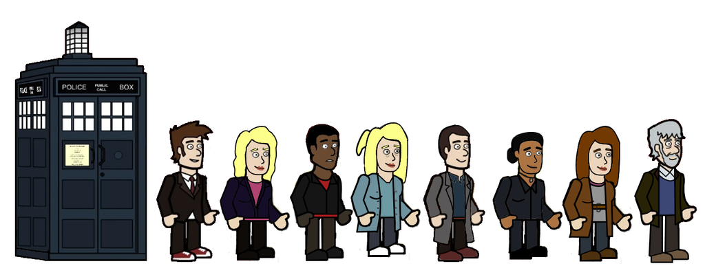 The 10th Doctor and his friends