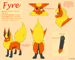 Fyre Flareon Reference Sheet (SFW)