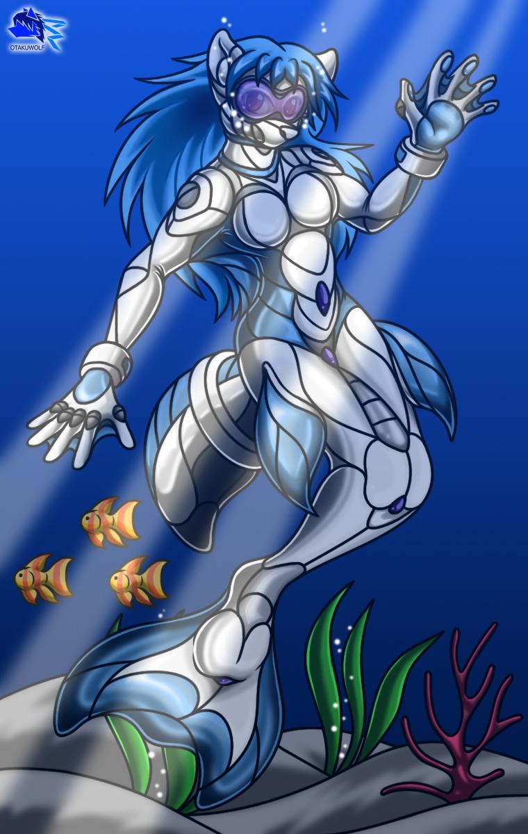 Mermaid suited