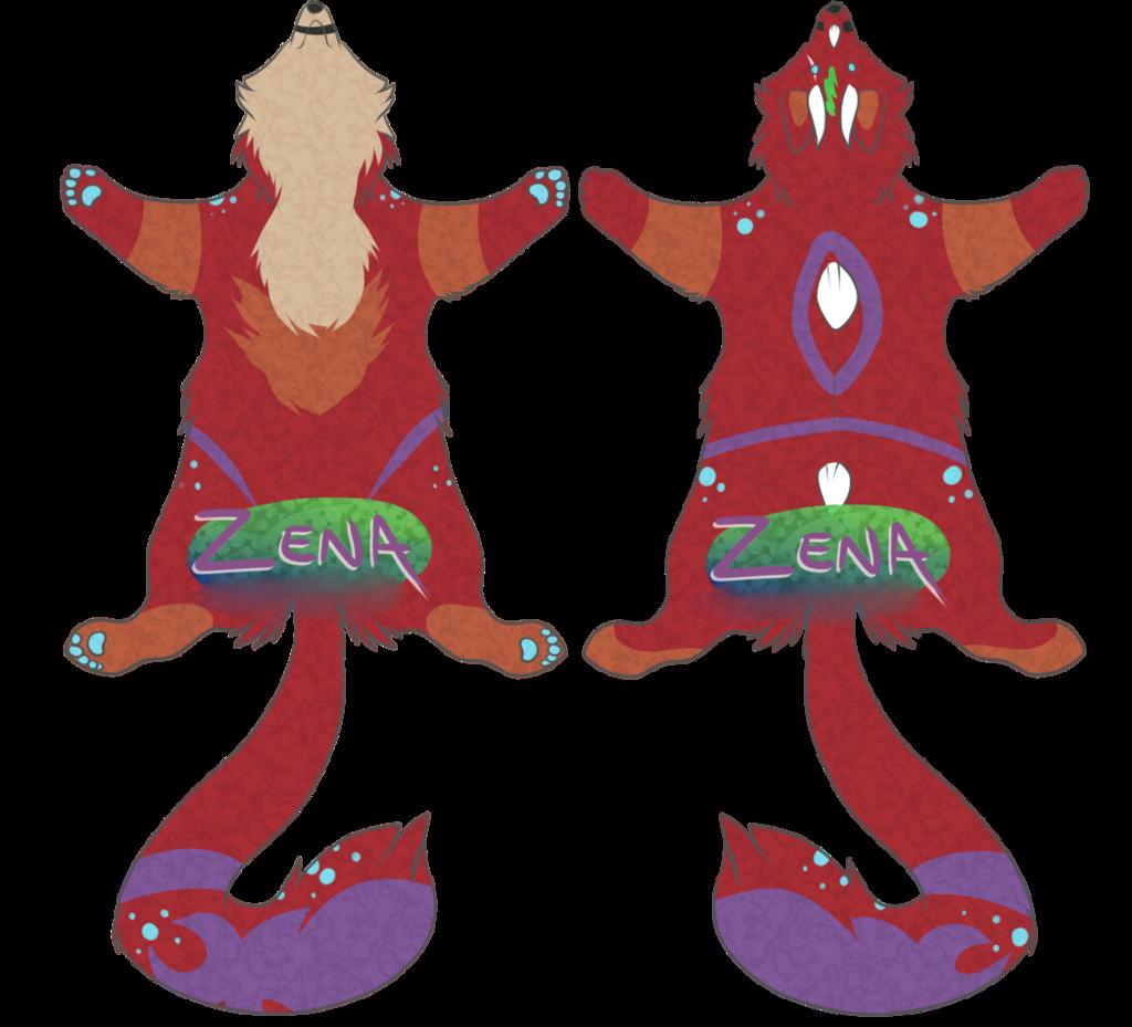 Zenafox pelt badge