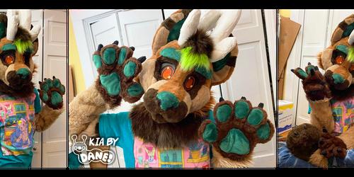 Kia Deer Dog Fursuit Partial