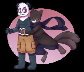 Hugging panda