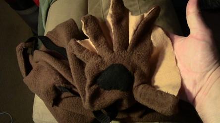 Otter Paw gloves closeup (pre-MFF Fursuit pic dump)
