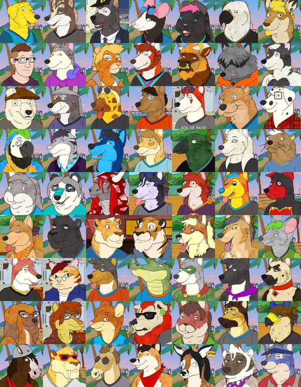 Open For Bojack Icons