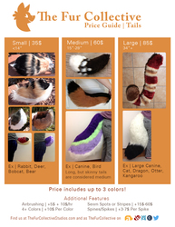 Price Guide- Tails