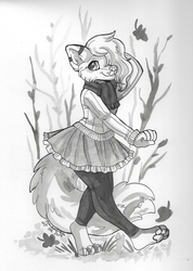 Inktober Day 5 - Fall Outfit