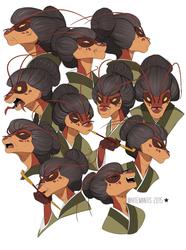 Blade Under Mask: Asami Expressions
