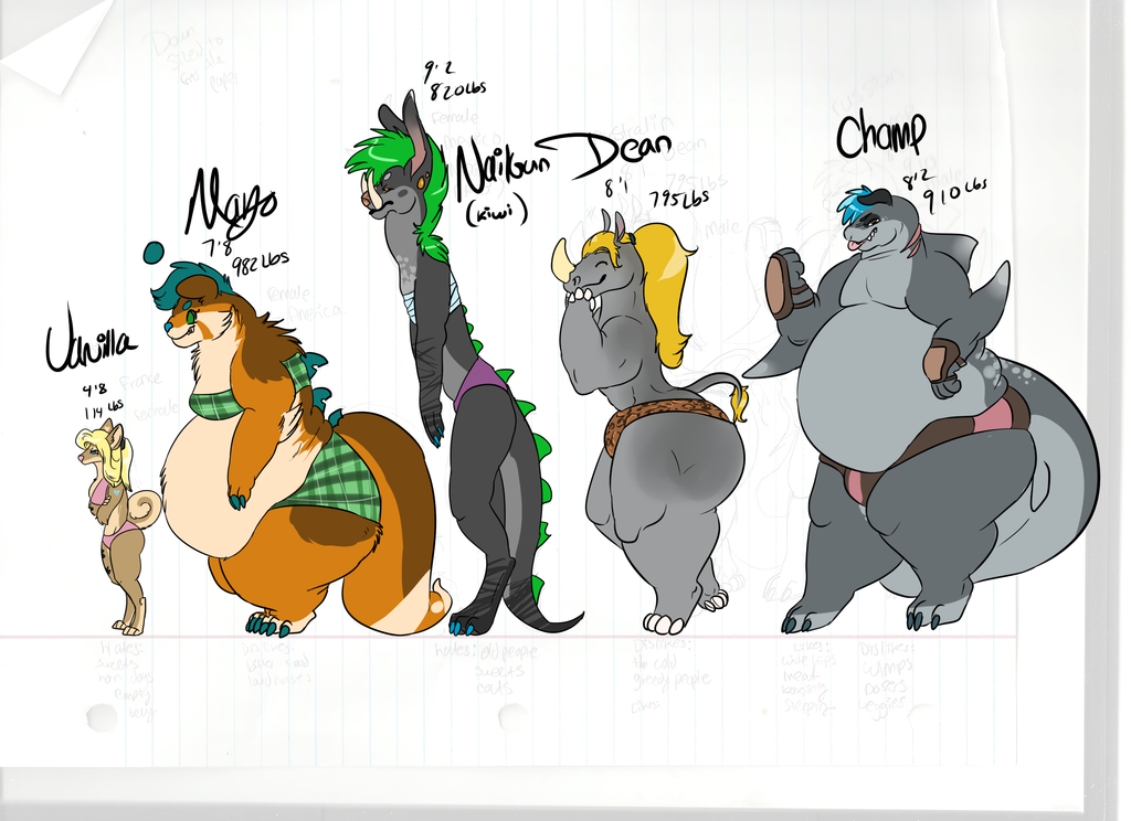 Character line up