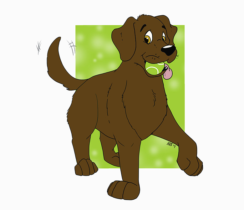 Most recent image: Gift art: Gabriel the chocolate lab