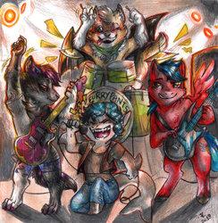 Commission - Furry Pants chibi band