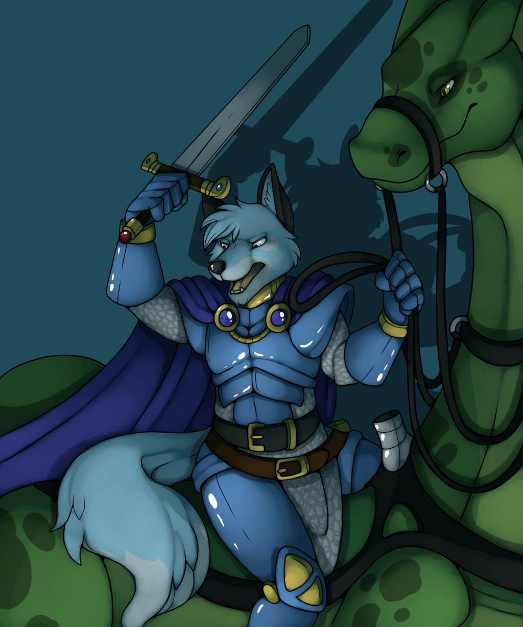 Most recent image: My furry character finished