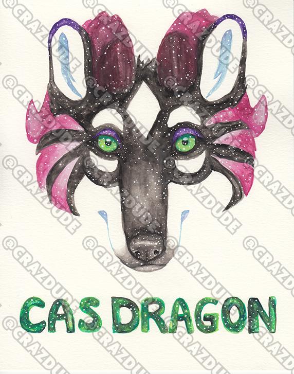 Cas Dragon - Galaxy Face Painting