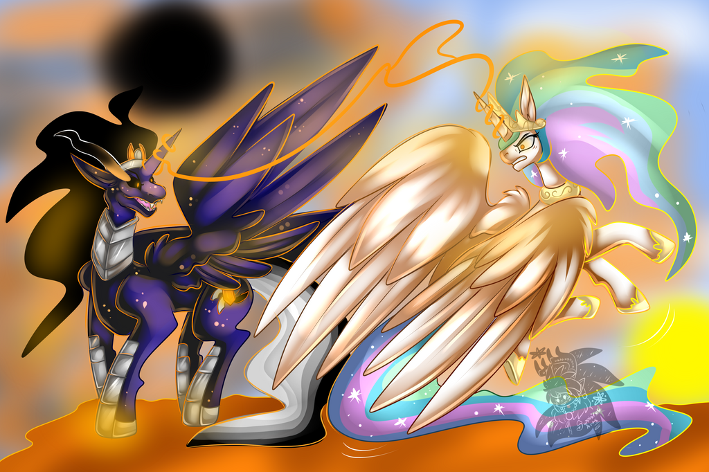 Event Horizon vs Celestia +Full Shaded Commission+