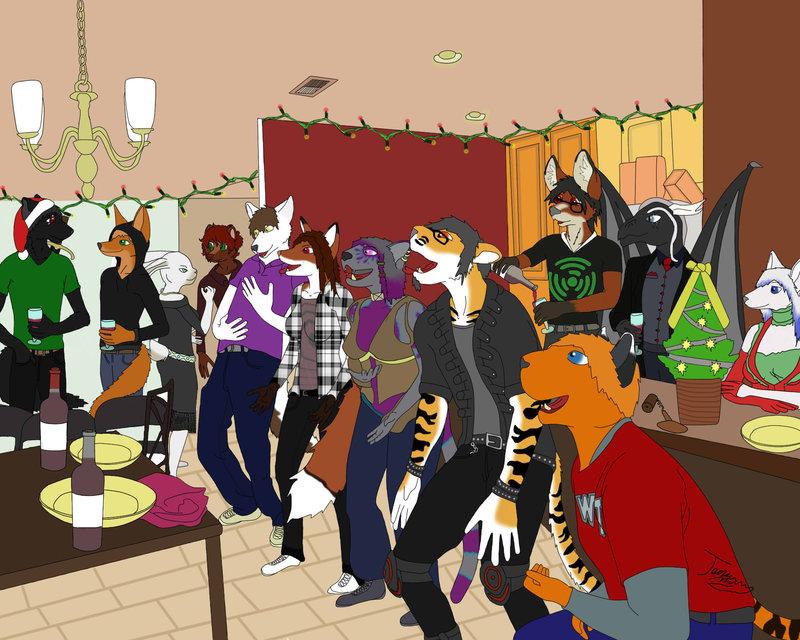 furry christmas party - Furry Christmas