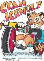 Cyan Icewolf Marci Badge 2010 MFF