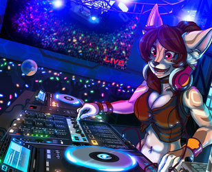 Pump Up the BASS! (Commission Art)