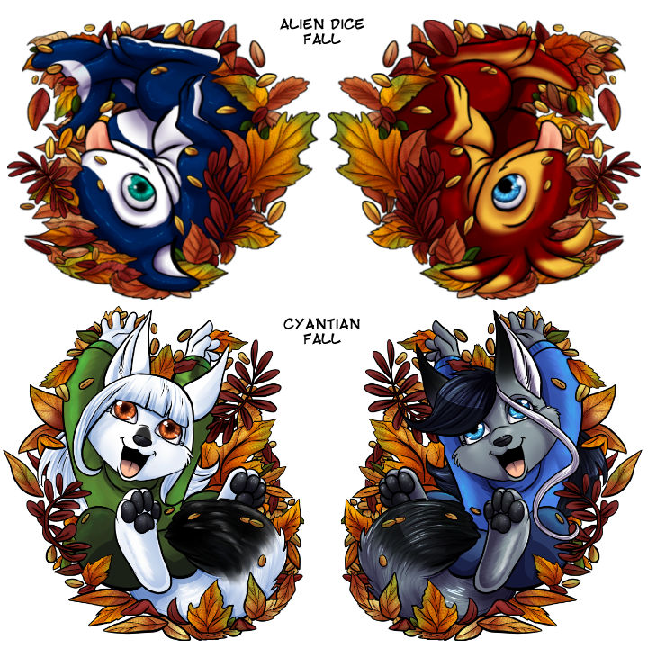 Fall Acrylic Charms - Epsy/Zeta and SIlver/Tira