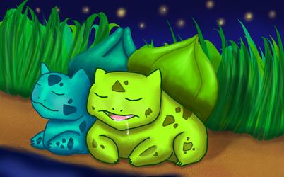 Sleeping Bulbasaurs