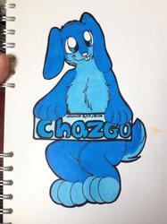 Chazgo bunny full body promarker con badge