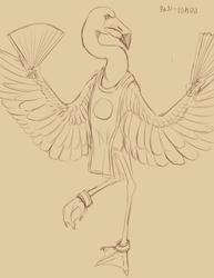 Commission: Anthro Flamingo